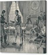 Meeting Of Napoleon And Tolstoi In Paris Canvas Print