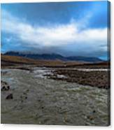 Meltwater Valley On Svalbard Canvas Print