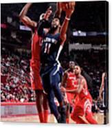 Memphis Grizzlies V Houston Rockets Canvas Print