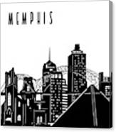 Memphis Skyline Panorama Canvas Print