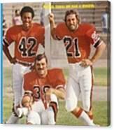 Memphis Southmen Paul Warfield, Larry Csonka, And Jim Kiick Sports Illustrated Cover Canvas Print