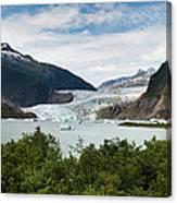 Mendenhall Glacier And Bay Canvas Print