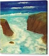 Mendocino Waves Canvas Print