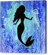 Mermaid Under Water Canvas Print