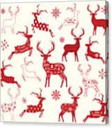 Merry Christmas Reindeer,reindeer Canvas Print
