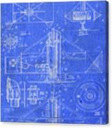 Merry Go Round Amusement Carousel Vintage Patent Blueprint Canvas Print