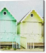 Mersea Island Beach Hut Oil Painting Look 5 Canvas Print