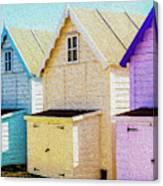 Mersea Island Beach Hut Oil Painting Look 6 Canvas Print