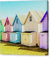 Mersea Island Beach Hut Oil Painting Look 9 Canvas Print