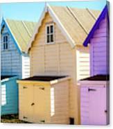 Mersea Island Beach Huts, Image 6 Canvas Print