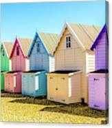 Mersea Island Beach Huts, Image 9 Canvas Print