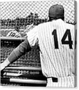 Mets Manager Gil Hodges Gets Catchers Canvas Print