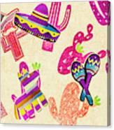 Mexican Mural Canvas Print