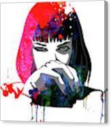 Mia Snorting Watercolor Canvas Print