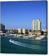 Miami Beach Marina Canvas Print