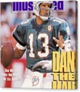 Miami Dolphins Qb Dan Marino, 1991 Afc Wild Card Playoffs Sports Illustrated Cover Canvas Print