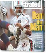 Miami Dolphins Qb Dan Marino... Sports Illustrated Cover Canvas Print