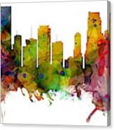 Miami Florida Skyline Panoramic Canvas Print