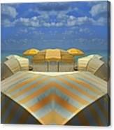 Miami Mirror Beach Canvas Print
