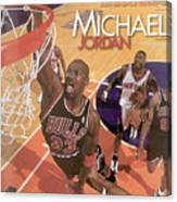 Michael Jordan A Career In Pictures Sports Illustrated Cover Canvas Print