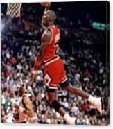 Michael Jordan Action Portrait Canvas Print