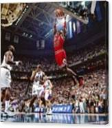 Michael Jordan Attempts A Dunk Canvas Print