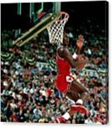 Michael Jordan Competes In The Nba All Canvas Print