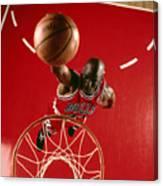 Michael Jordan Slam Dunk Canvas Print