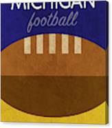Michigan Football Minimalist Retro Sports Poster Series 001 Canvas Print