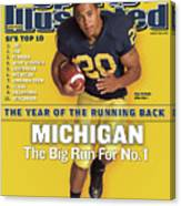 Michigan Mike Hart, 2007 College Football Preview Sports Illustrated Cover Canvas Print