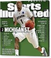 Michigan State University Kalin Lucas, 2009 Ncaa Midwest Sports Illustrated Cover Canvas Print
