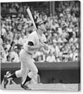 Mickey Mantle In Action Canvas Print