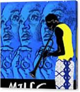 Miles Davis Blue - Filles De Kilimanjaro Canvas Print