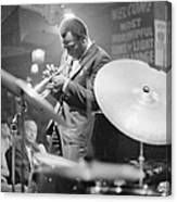 Miles Davis Performing In Nightclub Canvas Print