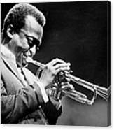 Miles Davis Performs At The Newport Canvas Print