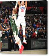 Milwaukee Bucks V La Clippers Canvas Print