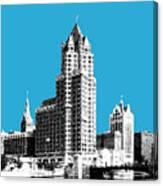 Milwaukee Skyline - 4 - Coral Canvas Print