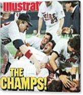 Minnesota Twins Dan Gladden, 1987 World Series Sports Illustrated Cover Canvas Print