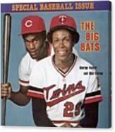 Minnesota Twins Rod Carew And Cincinnati Reds George Sports Illustrated Cover Canvas Print