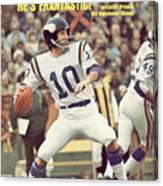 Minnesota Vikings Qb Fran Tarkenton... Sports Illustrated Cover Canvas Print