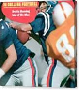 Mississippi Qb Archie Manning... Sports Illustrated Cover Canvas Print