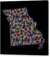 Missouri Map - 2 Canvas Print