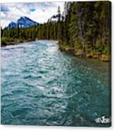 Mistaya River Blues Canvas Print