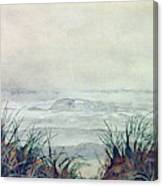 Misty Morning On Lawrencetown Beach Canvas Print