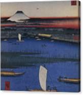 Mitsumata Wakarenofuchi One Hundred Canvas Print