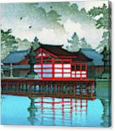 Miyajima In The Mist - Digital Remastered Edition Canvas Print