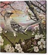 Mockingbird Sunset Canvas Print