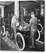 Model T Being Assembled In Ford Plant Canvas Print