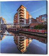 Modern Canal Living Canvas Print