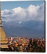 Mole Antonelliana, Torino And Alps Canvas Print